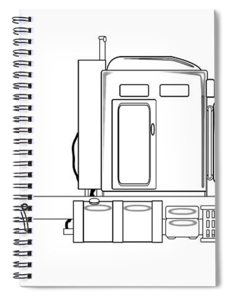 Truck Tractor Unit Outline Spiral Notebook