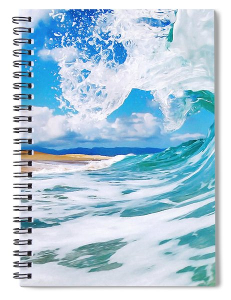 True Blue Spiral Notebook