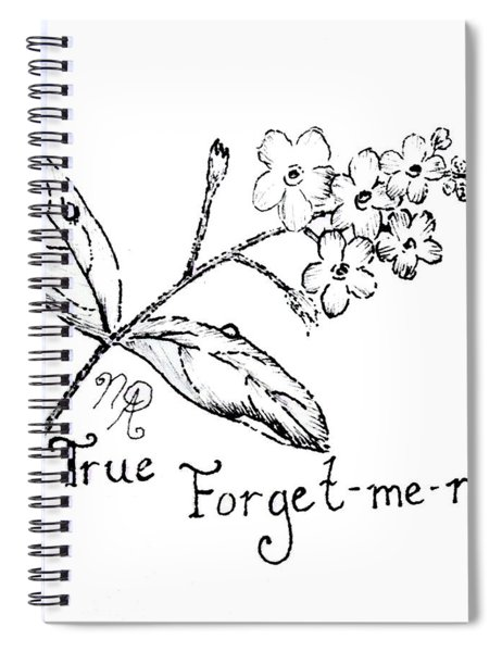 True Forget-me-not Spiral Notebook