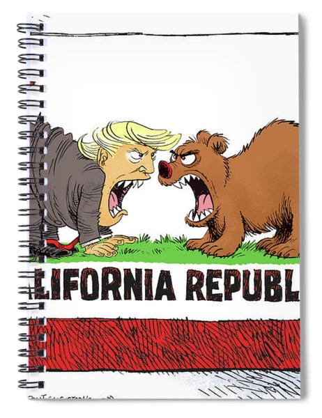 Trump And California Face Off Spiral Notebook