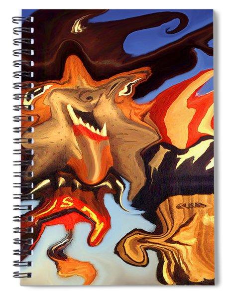 Donald Trump, The Bizarre American President - Modern Artwork Spiral Notebook