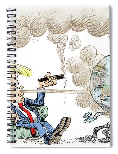 Trump And The World On Climate Spiral Notebook