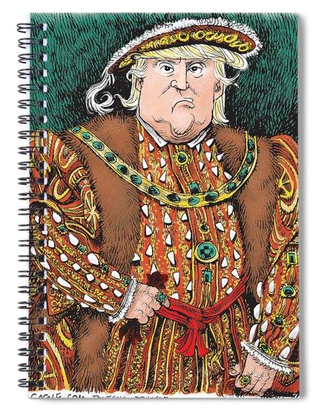 Trump As King Henry Viii Spiral Notebook