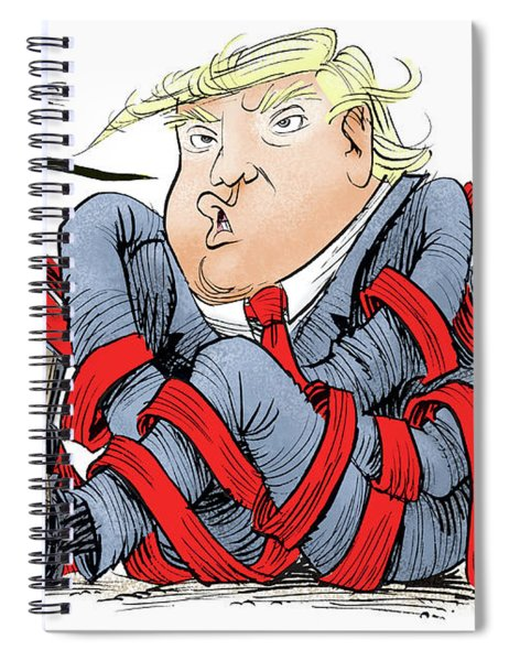 Trump Chaos Spiral Notebook