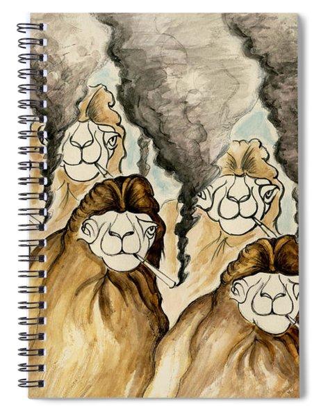 Stop Smoking Camels - Funny Cartoon Spiral Notebook