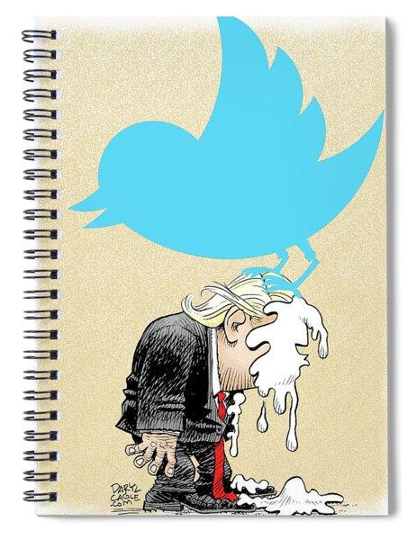 Trump Twitter Poop Spiral Notebook