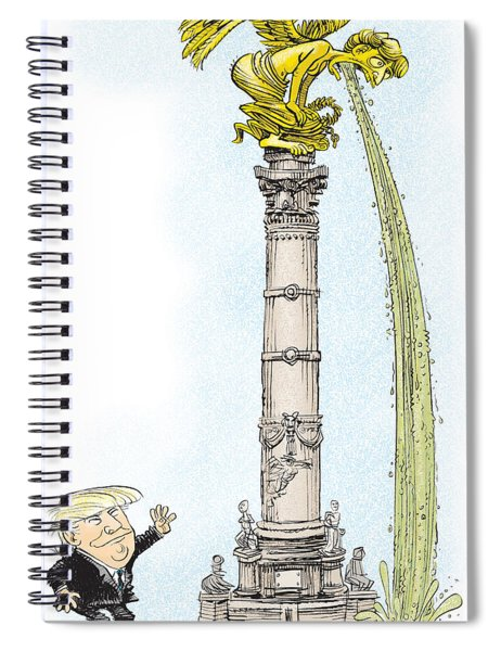 Trump Visits Mexico Spiral Notebook