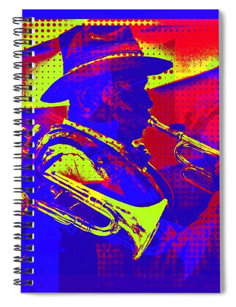 Trumpet Player Pop-art Spiral Notebook