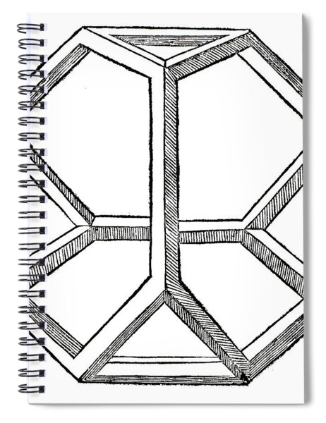 Truncated Tetrahedron With Open Faces  Tetraedron Abscisum Vacuum Spiral Notebook