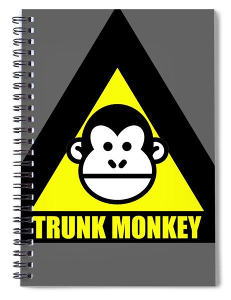 Trunk Monkey Spiral Notebook