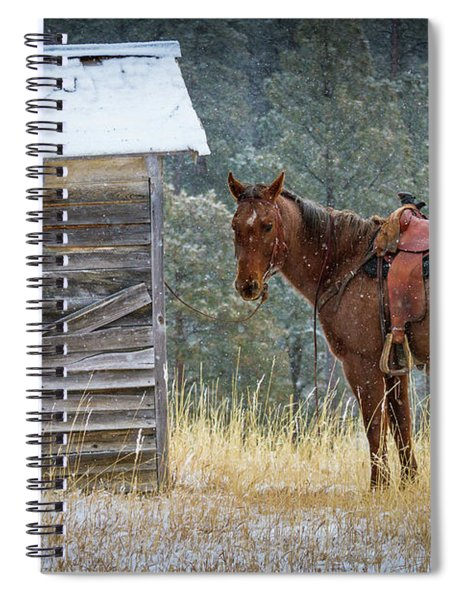Spiral Notebook featuring the photograph Trusty Horse  by Inge Johnsson