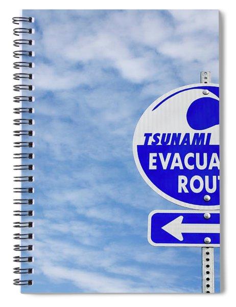 Tsunami Evacuation Route Sign Spiral Notebook