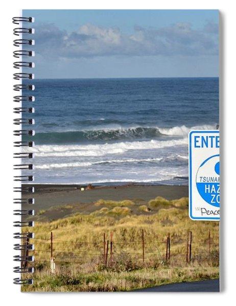 Tsunami Hazard Zone Spiral Notebook