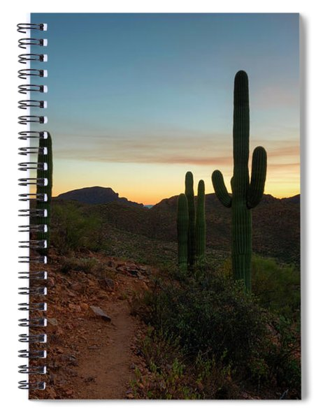 Tucson Mountain Sunset Spiral Notebook