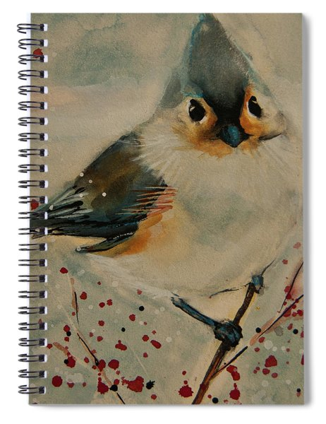 Tufted Blue Titmouse Spiral Notebook