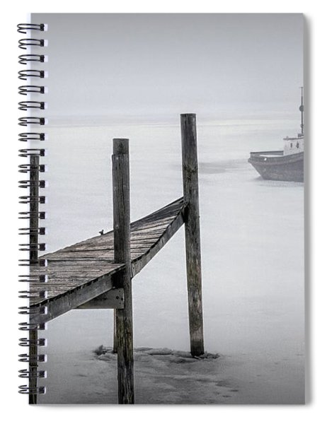 Tugboat Stuck In The Winter Ice Spiral Notebook