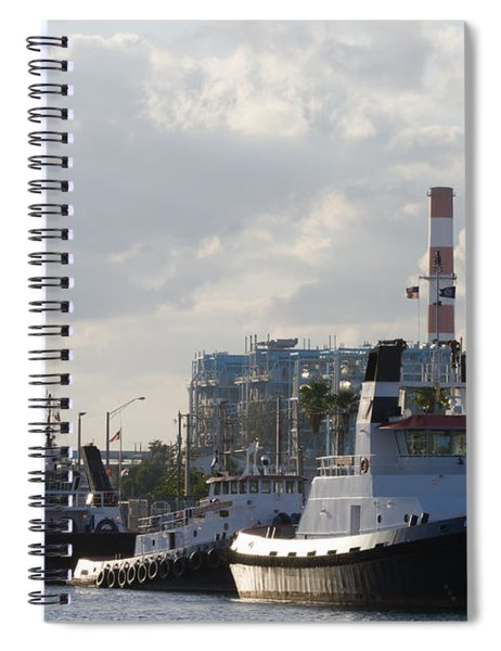 Spiral Notebook featuring the photograph Tugs by Ed Gleichman