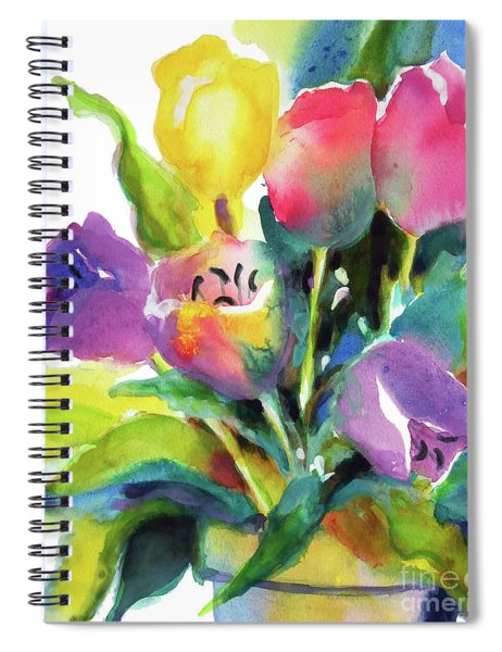 Tulip Pot Spiral Notebook