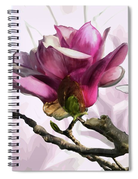 Spiral Notebook featuring the digital art Tulip Trees by Gina Harrison