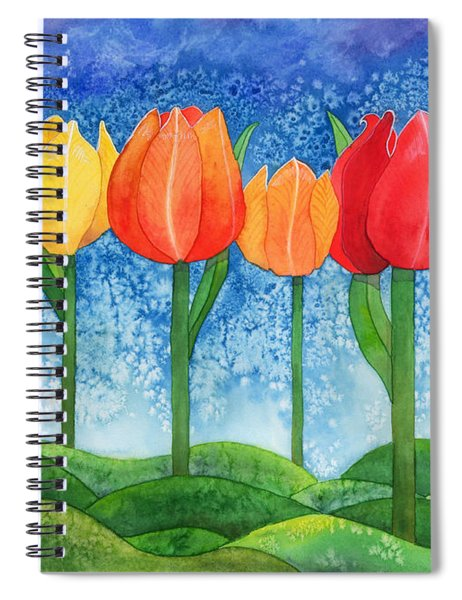 Tulip Trees Watercolor Spiral Notebook