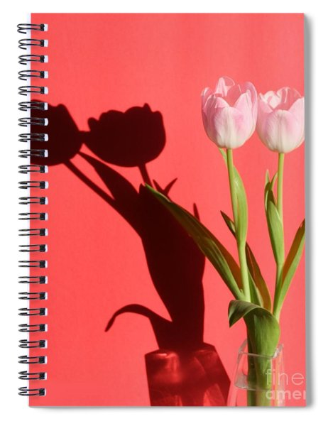 Tulips Casting Shadows Spiral Notebook