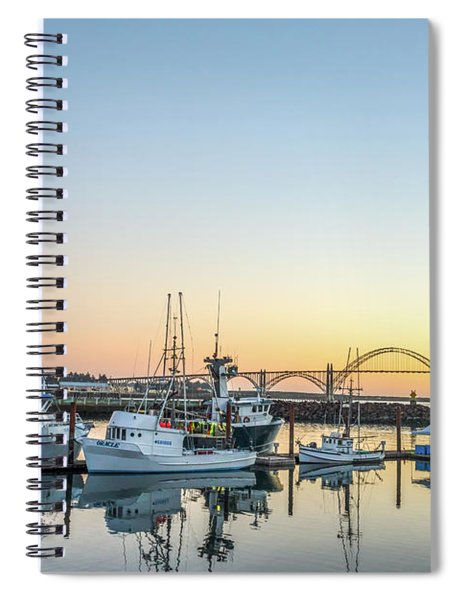 Tuna Boats Resting For The Night Spiral Notebook