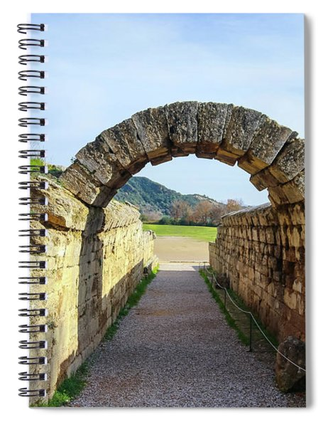 Tunnel To The  Field Where The Original Olympics Were Held  Spiral Notebook