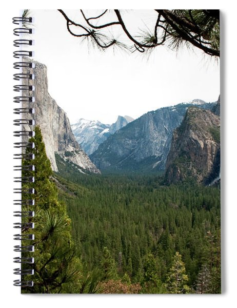 Spiral Notebook featuring the photograph Tunnel View Framed by Lorraine Devon Wilke