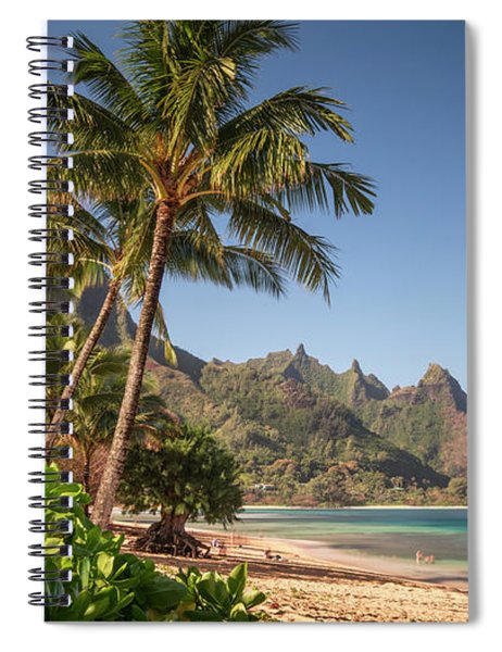 Tunnels Beach Haena Kauai Hawaii Bali Hai Spiral Notebook