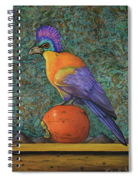 Turaco On A Persimmon Spiral Notebook