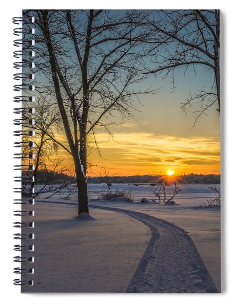 Turn Left At The Sunset Spiral Notebook