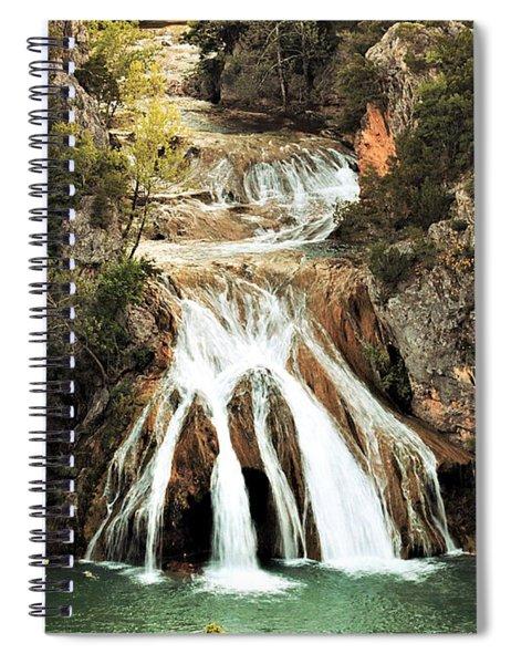 Turner Falls Waterfall In Spring Spiral Notebook