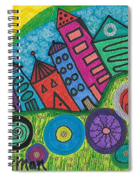 Turning Funky City On Its Ear Spiral Notebook