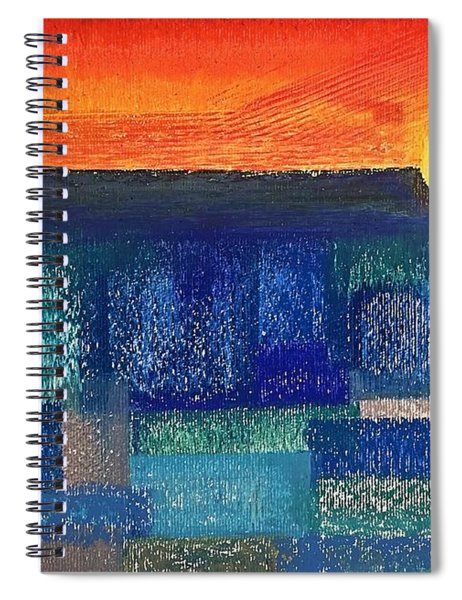 Turquoise Sunset Spiral Notebook