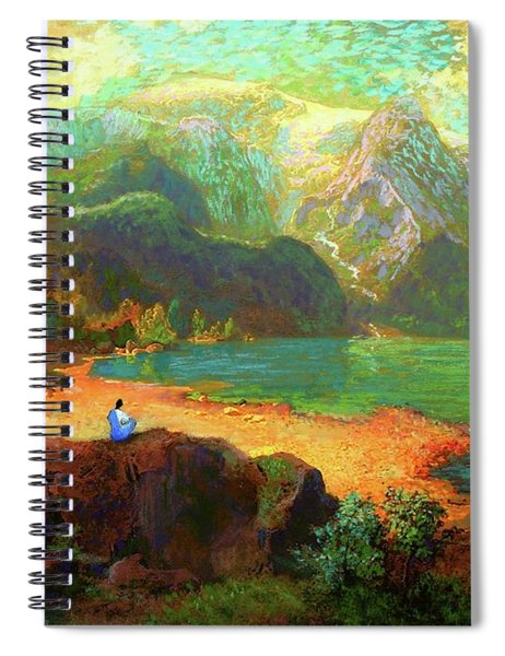 Turquoise Tranquility Meditation Spiral Notebook
