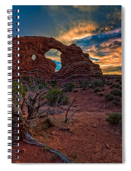 Turret Arch At Sunset Spiral Notebook
