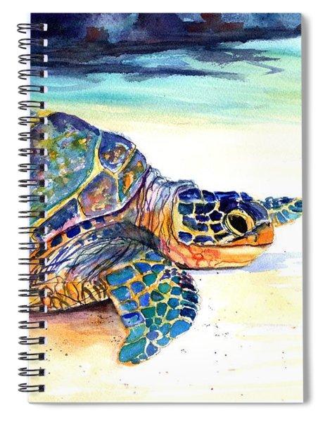 Turtle At Poipu Beach 2 Spiral Notebook