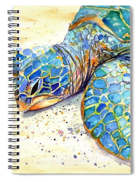 Turtle At Poipu Beach 4 Spiral Notebook