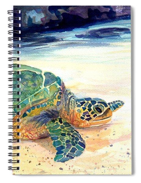 Turtle At Poipu Beach 5 Spiral Notebook