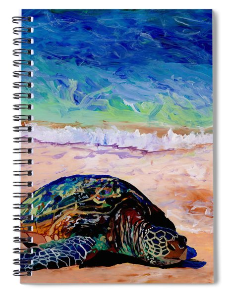 Turtle At Poipu Beach 9 Spiral Notebook