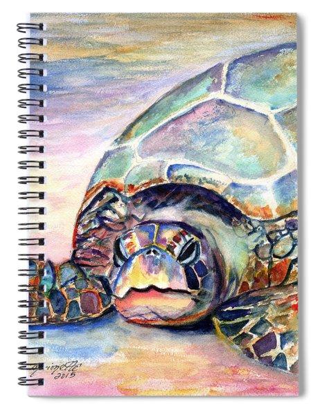 Turtle At Poipu Beach Spiral Notebook