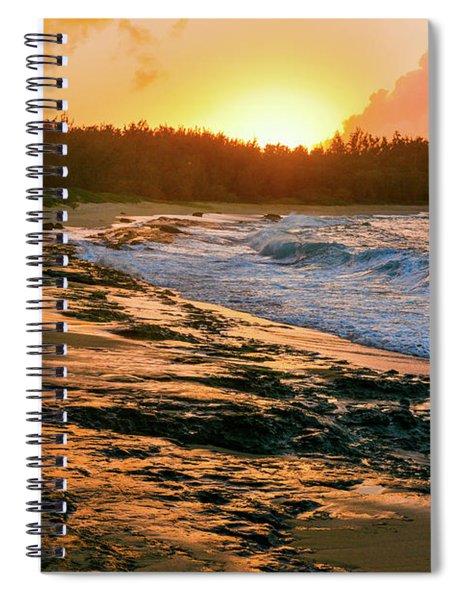 Turtle Bay Sunset 2 Spiral Notebook