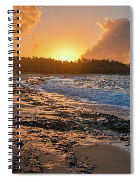 Turtle Bay Sunset 3 Spiral Notebook