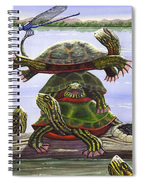 Turtle Circus Spiral Notebook
