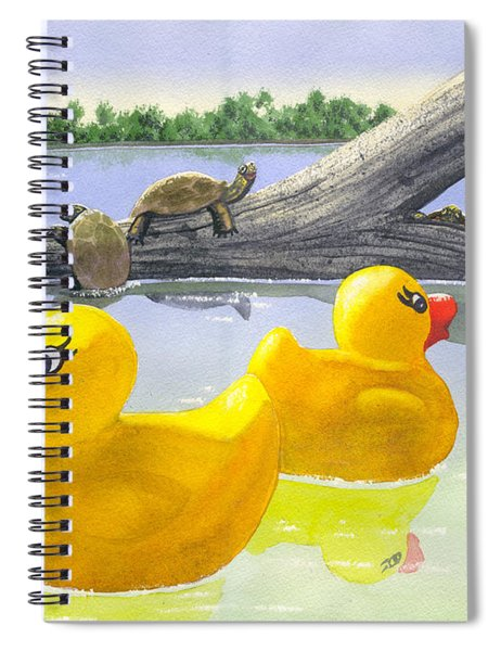 Turtle Log Spiral Notebook