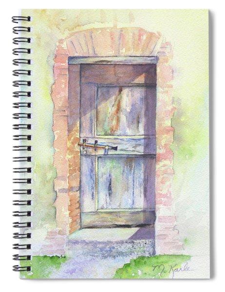 Tuscan Doorway Spiral Notebook