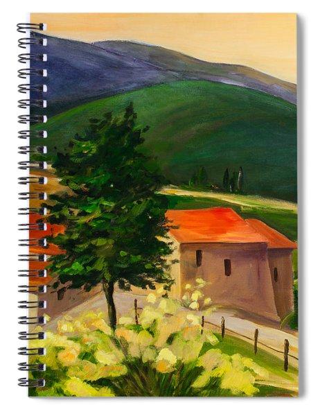 Tuscan Hills Spiral Notebook
