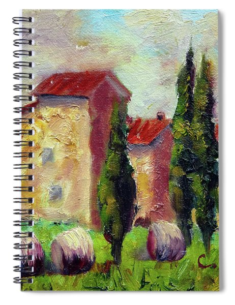 Tuscan House With Hay Spiral Notebook
