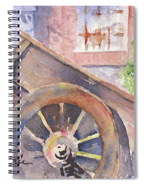 Tuscan Ox Cart Spiral Notebook