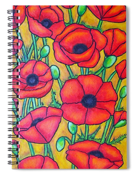 Tuscan Poppies - Crop 1 Spiral Notebook